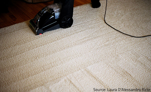 Professional carpet cleaning will yield the best possible results.