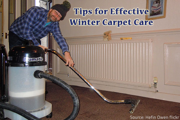 How to keep your carpet clean in the winter.