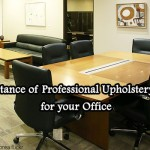 Benefits of professional upholstery cleaning for office.