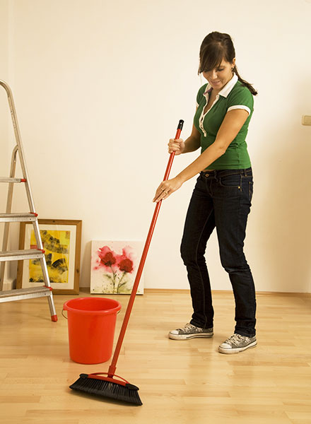 Post construction cleaning is your first task after the bulding work is over.