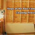 Post construction cleaning checklist.