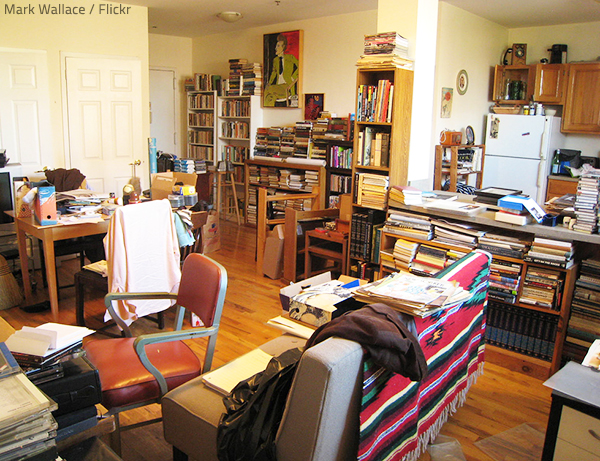 An over-expanding accumulation of items will eventually create a clutter problem.