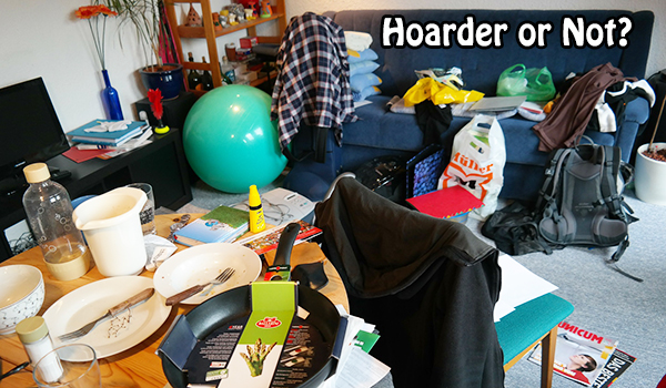 The difference between hoarding and clutter is difficult to recognize.