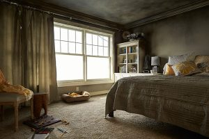 A forced air system will spread the smoke and soot byproducts through the air ducts to contaminate the rest of the home.