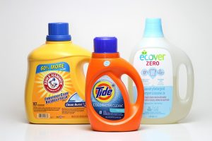 Never use laundry detergent to remove a blood stain from the carpet.