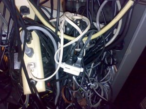 Organize all electrical cords to minimize the risk of fire. Unplug and remove any you don't use.