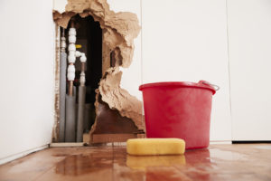 Damaged-Wall-Burst-Pipes-Water-Damage
