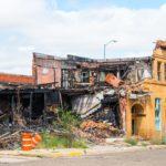Burned Commercial Building