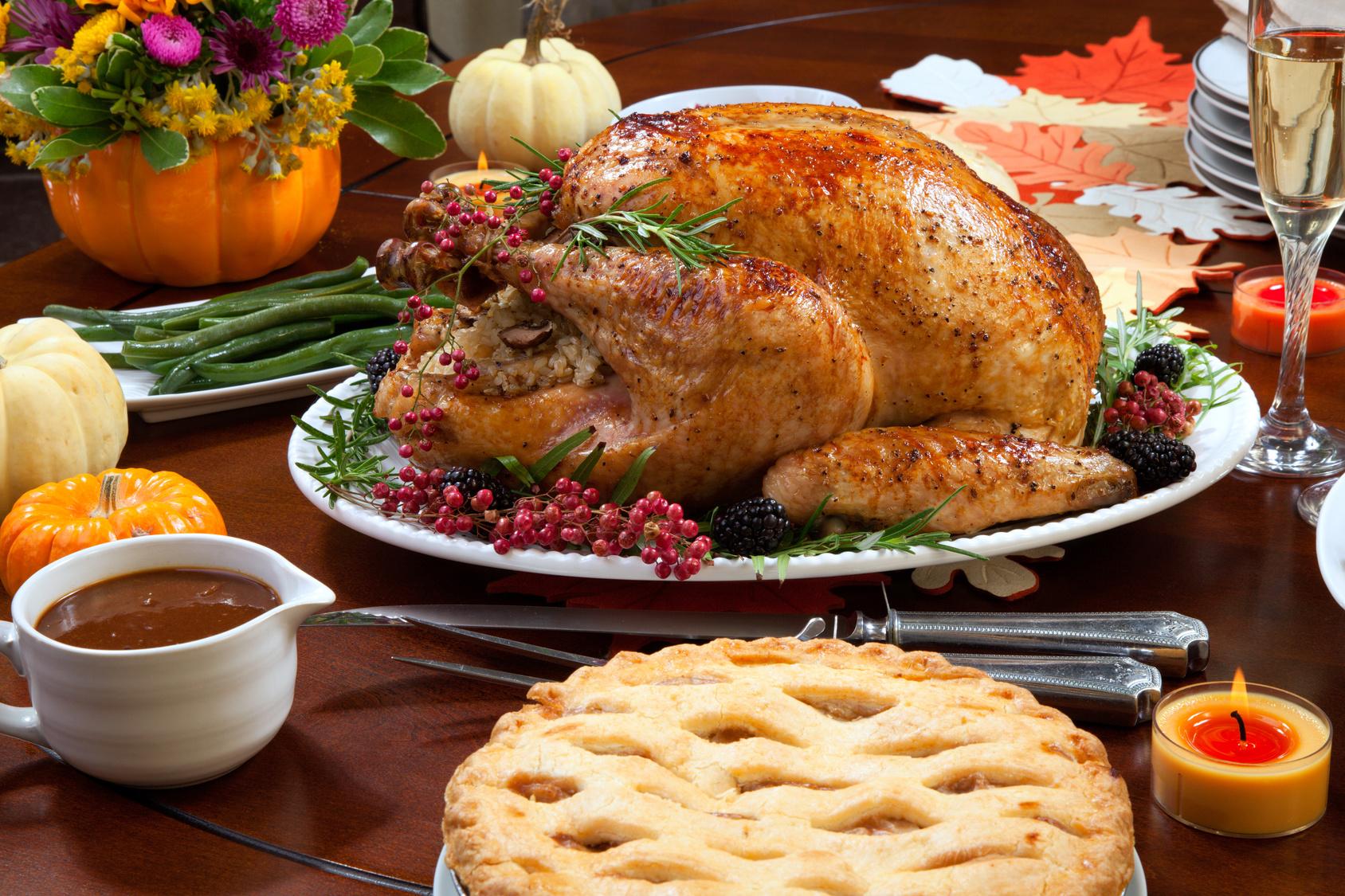 Thanksgiving-Dinner-Food-Turkey-Pie
